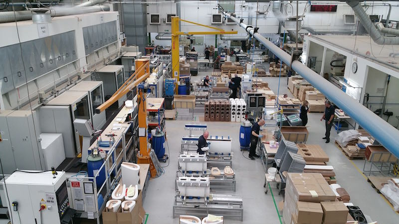 Shopfloor of Bowers & Wilkins' Worthing manufacturing centre.